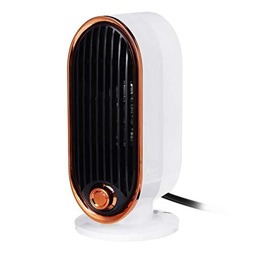 WYW 500W Mini Calefactor Eléctrico Cerámico Baño,silencioso Termostato Ajustable,con Termostato y Protección, Portátil Calefactores Aire Caliente Pequeño,contra Sobrecalentamiento