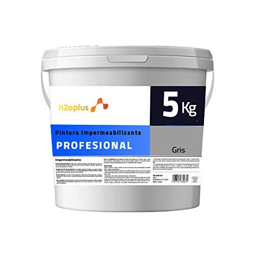 Profesional Pintura de Caucho Gris Impermeabilizante · Revestimiento Exterior para Terrazas y Azoteas Transitables · 5KG (4,15 L) · NO Necesita Fibra