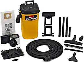 Shop-Vac 3942300 5 gallon 4.0 Peak HP Wall Mount Wet/Dry Vacuum Yellow/Black Hands-Free Vacuum with Accessories Type AA Cartridge Filter & Type CC Foam Sleeve & Type O Filter Bag