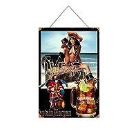 クラシックキャプテンモルガンスパイスゴールド木製のリストプラーク木の看板ぶら下げ木製絵画パーソナライズされた広告ヴィンテージウォールサイン装飾ポスターアートサイン