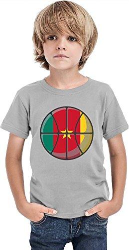 Younique Camerún Basketball Boys Camiseta, gris, 4-5 Años