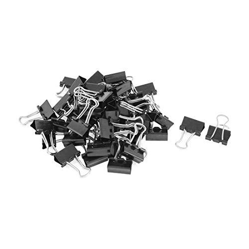 SODIAL Metal Carpetas De Resorte Clip Para Papel Papel De Oficina PapeleríA Clips 15 Mm 48 Piezas Negro