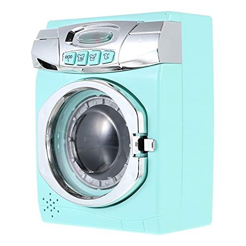 BESPORTBLE Kinder Waschmaschine Modell Washe Modell Haushalt Miniatur Möbel Wäschespielset So Tun Als Würde Man mit Geräuschen für Kinder Spielen