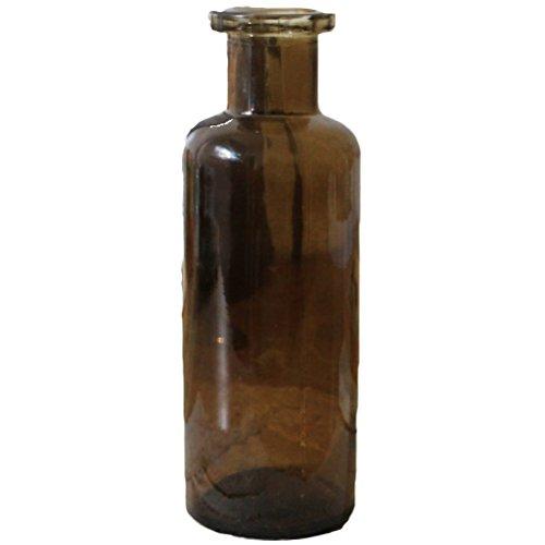 LAMEIDA Vase pour fleur en verre style minimaliste élégant Petite bouteille pour décoration intérieure ou mariage (marron)
