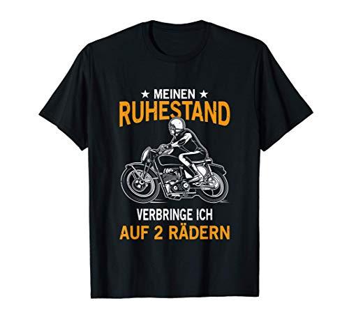Herren Pension Ruhestand Opa Rentner Motorrad Biker Geschenk T-Shirt