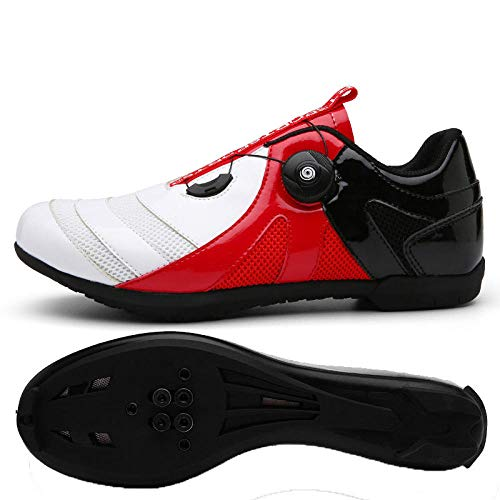 Tingxx Spring and Summer Leisure Couples Road Cycling Mountain Biking Sports Cycling Shoelace Lock Without Lock White_Red_Black_with_Lock_39