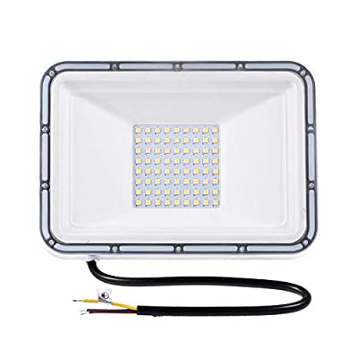 50W LED Flood Light, 5000lm Super Bright Floodlight, IP65 Waterproof Outdoor Work Lights, 3000K(Warm White) Spotlight, CE and ROHS Certified Outdoor Security Lighting for Garden, Playground 110V (50)