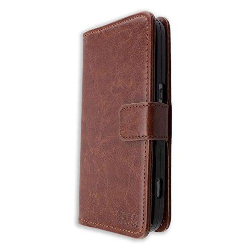 caseroxx Handy Hülle Tasche kompatibel mit Doro 8030/8031 Bookstyle-Hülle Wallet Hülle in braun