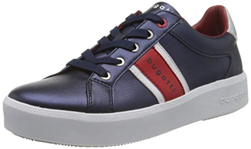 bugatti Damen 4324071B5050 Sneaker, Blau (Dark Blue/Red 4130), 39 EU
