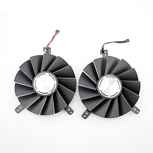 Jinyouqin DAPA0815B2UP001 DAPA0815B2UP004 Grafikkartenventilator für NVIDIA für GeForce RTX 2080 2080 TI Fan RTX2080 RTX2080TI Grafikkartenventilator (Blade Color : 2PCS)