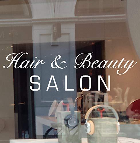 "JBY Graphics Hair Beauty Salon Vinyl Decal Sticker Business Sign Window (26"" W X 7.5"" H)"
