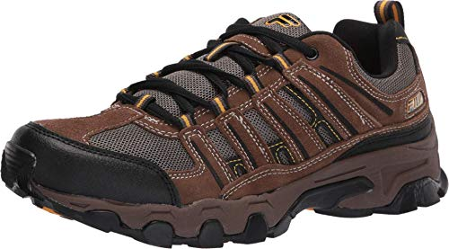 Fila Men's Country Plus Athletic Sneakers, Brown Man-Made, Mesh, Rubber, 11 M