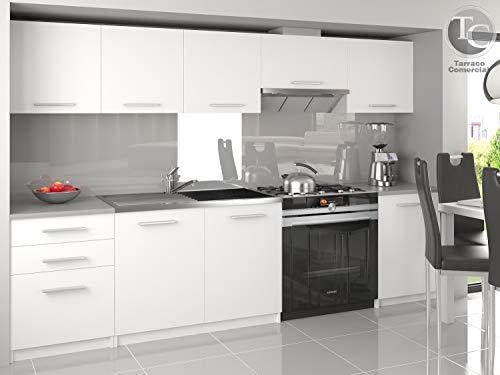 Muebles de Cocina Completa Unica Blanco 240 cm