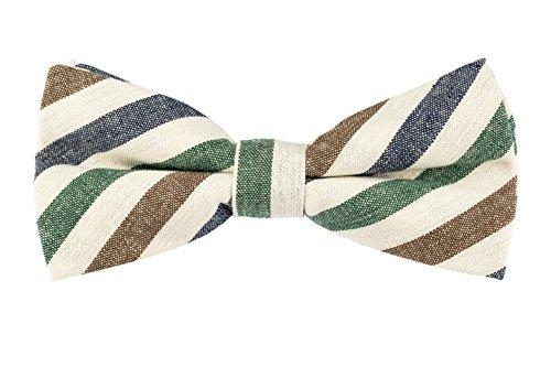 Product Proper - Rayures Nœud papillon - Homme - Bleu Vert Brun - Taille unique