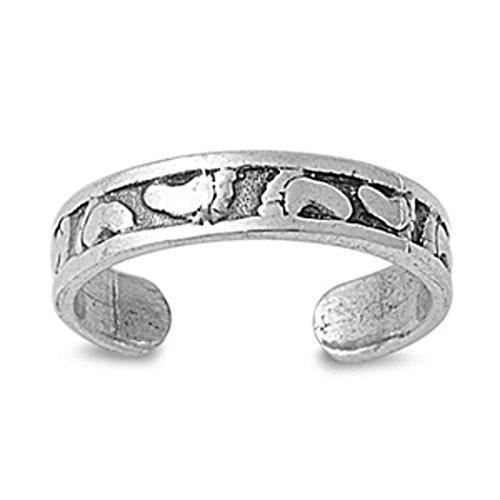 Zehenring aus 925 Sterling Silber als Fußschmuck für Damen, Herren und Mädchen, Größenverstellbar, Füße 1