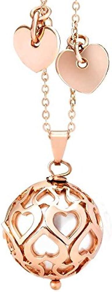 Boccadamo, collana da donna, in bronzo placcato oro rosa con perla swarovski Srgr02