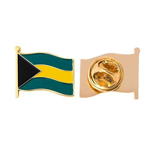 Bahamas Land Flagge Anstecknadel Emaille aus Metall Souvenir Hat Herren Frauen Patriotische bahamians (Waving Flag Revers PIN)