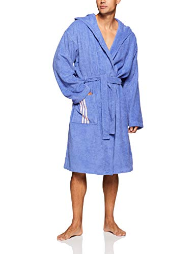 adidas Erwachsene Bathrobe Us Bademantel, Real Lilac/Clear Orange, S