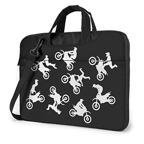 15.6 inch Laptop Shoulder Briefcase Messenger Dirt Bike Motocross Tablet Bussiness Carrying Handbag Case Sleeve
