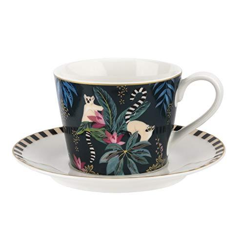 Elegant Lemur Teacup And Saucer