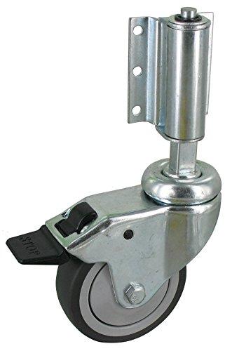 Leiterrolle - Federrolle - Lenkrolle MIT Bremse, Ø75 mm gefedert