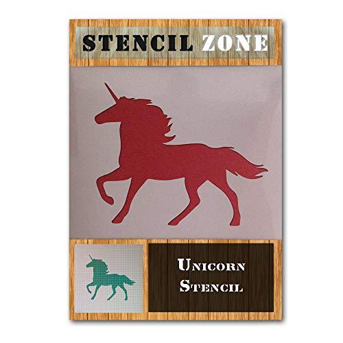Einhorn Mystical Tier Kreatur Pferd Mylar Malerei Wand-Deko Stencil Craft Zwei-M