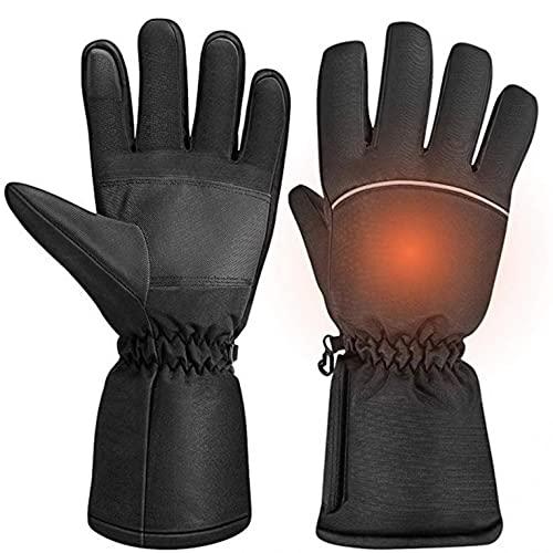 Unisex Self-Heating Gloves Winter Warm Temperature Adjustable Waterproof Touch Screen Gloves Unisex Outdoor Sports Gloves Black