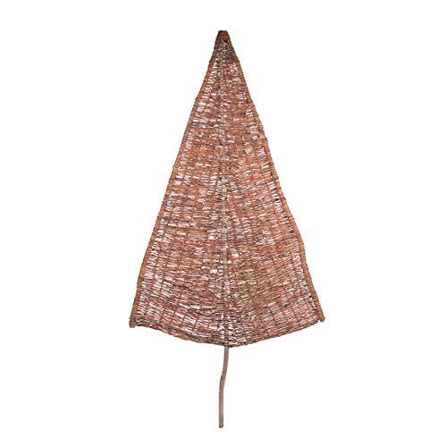AFP Sichtschutz Weidenbaum Tanne groß, Natur. Höhe ca 230 cm (Davon 85 cm Stamm) Garten Sichtschutz aus Weide, dekoratives Weidengeflecht – inkl. 2 Jutesäckchen gratis