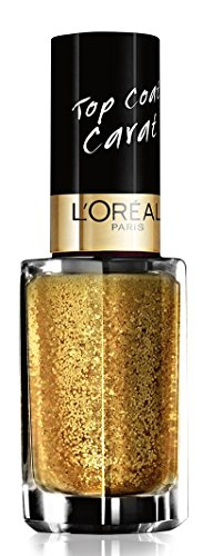 L'Oréal Paris Color Riche Le Vernis Top Coat Carat Nagellack / Glänzender Überlack mit Schimmereffekt in Gold / 910 Lurex / 1 x 5ml