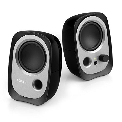 Edifier R12U BK USB-Lautsprecherset (Bassreflex-Port, Kopfhöreranschluss, integrierter Lautstärkeregler) schwarz