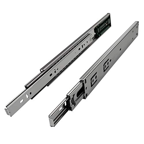 SOTECH 1 Paar Vollauszüge KV2-25-H45-L600-PP 600 mm mit Push-to-Open für grifflose Schubladen Teleskopauszug belastbar bis 25Kg