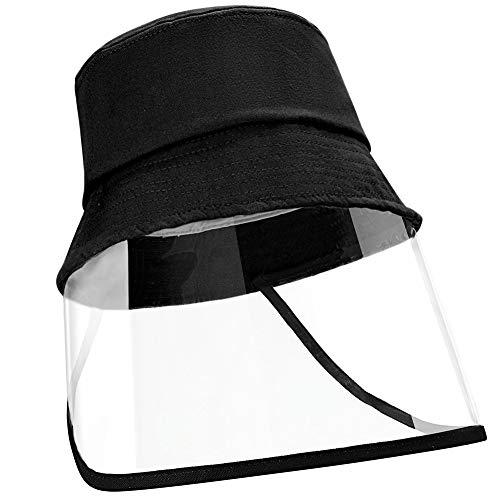 Homealexa Unisex Schutzkappen Kinder voller Augenschutz Gesichtsschutz Fischerhüte Sonnenhüte mit transparente Abdeckung, Geeignet für Kopfumfang 49-51cm