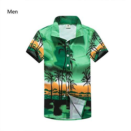 LFNANYI Camisas Hawaianas Casuales Hombres Estampado Floral Ropa Camisa de Playa de Manga Corta M-5XL XXXL: Amazon.es: Deportes y aire libre