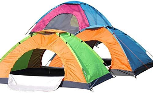 Tiendas de campaña para acampar Poste de la tienda solo ultraligero contra las tiendas de campaña de campaña al aire libre de la tormenta y la cuerda manual para la pesca de mochila (color: naranja co