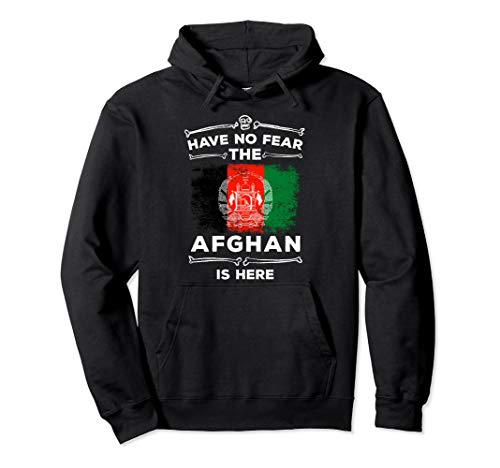 Have No Fear The Afghan Is Here Halloween Afghanistan Flag Pullover Hoodie