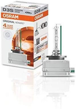 OSRAM 66340 OSRAM XENARC ORIGINAL D3S HID Xenon discharge bulb, discharge lamp, OEM quality, 66340, folding carton bo...