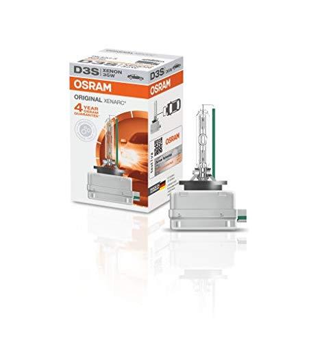 OSRAM 66340 XENARC ORIGINAL D3S HID, lámpara de xenón, lámpara de descarga, calidad de equipamiento original (OEM), estuche (1 unidad), 3200 lm, temperatura de color 4300K
