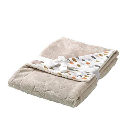 Textiles Mora Manta para Bebé Baby Galaxy – Cuna 110X140Cm - Beig - Mantas, unisex