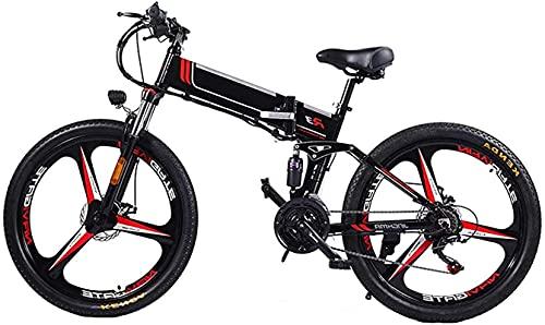 Bicicleta electrica Bicicletas, bicicleta eléctrica Montaña plegable Ebike para adultos 3 Modos de equitación Motor 350W, marco de aleación de magnesio ligero Plegable Ebike con pantalla LCD, para via