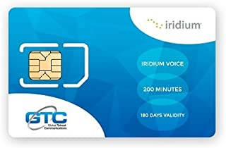 Iridium SIM Card (4.Tarjeta SIM de prepago de Iridium Satellite Phone Global para Canadá y Alaska con 200 Minutos (180 días))