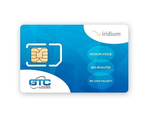 Iridium Satellite Phone Kanada & Alaska Prepaid SIM Karte mit 200 Minuten (180 Tage Gültigkeit)