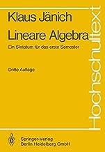 Lineare Algebra: Ein Skriptum Fa1/4r Das Erste Semester