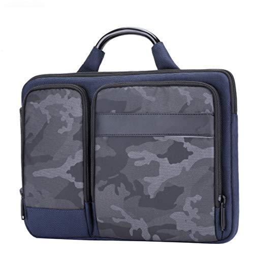 Yi-xir Maletín para hombre de diseño de moda de 15.6 pulgadas, bolsa de ordenador portátil, para hombre, oficina, bolsa de ordenador portátil, ligera y duradera (color: azul, tamaño: A)