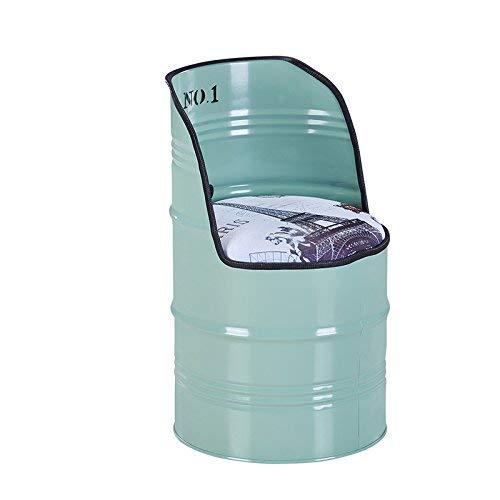 SSYZZGQ Sgabello in Ferro, Paint Bar Casual Barile di Petrolio Ferro Deposito e Schienale Tamburo Tea Shop Negozio di caffè Sedia da Cucina (Multi Colore Opzionale) (Colore : B)