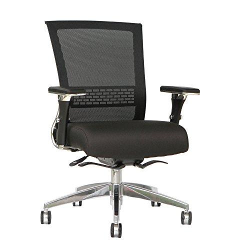 TygerClaw TYFC2323 Mesh Mid Back & Fabric Seat Silla de oficina