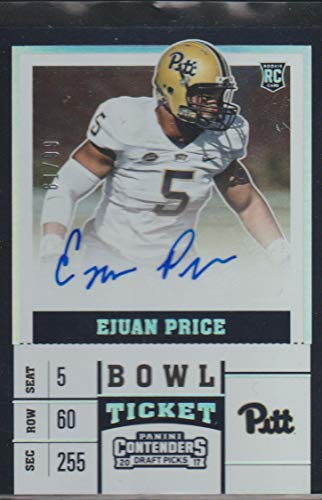 Ejuan Price #/99 (Football Card) 2017 Panini Contenders Draft Picks - [Base] - Bowl Ticket #280