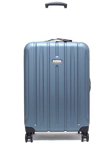 Roncato trolley viaggio, Kinetic 409861-43, trolley rigido grande in policarbonato Kg 4.4, colore blu artico, chiusura TSA