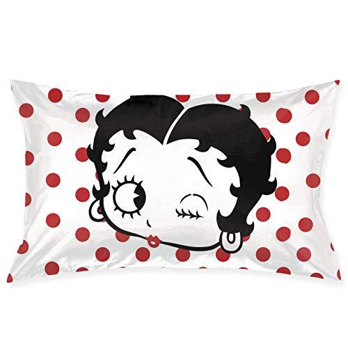 Betty-Boop - Funda de cojín para decoración del hogar, diseño para sofá, dormitorio, coche, 50,8 x 76,2 cm