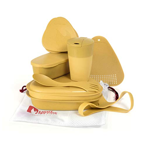 Light My Fire MEALKIT BIO - Reusable to-go tableware set, cutlery and storage jars - 8 pcs - Yellow - Made in Sweden