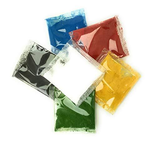Pulverfarben 6 x 10g fettlöslich für Schokolade Teige Fondant